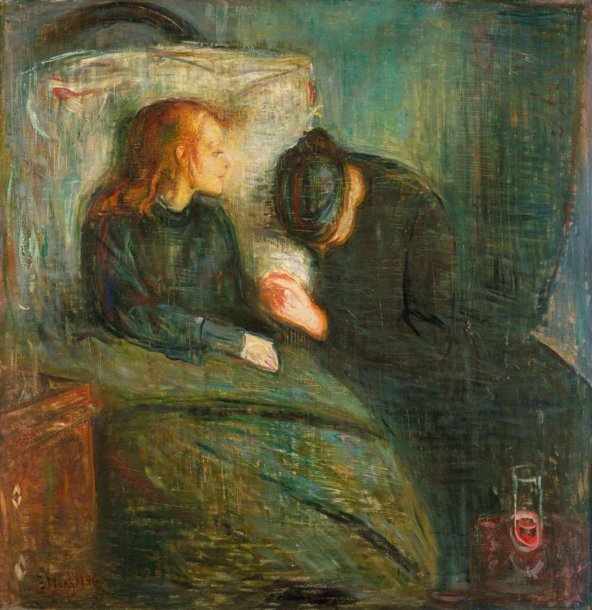 The Sick Child - Edvard Munch - 1896 - [Public domain], via Wikimedia Commons