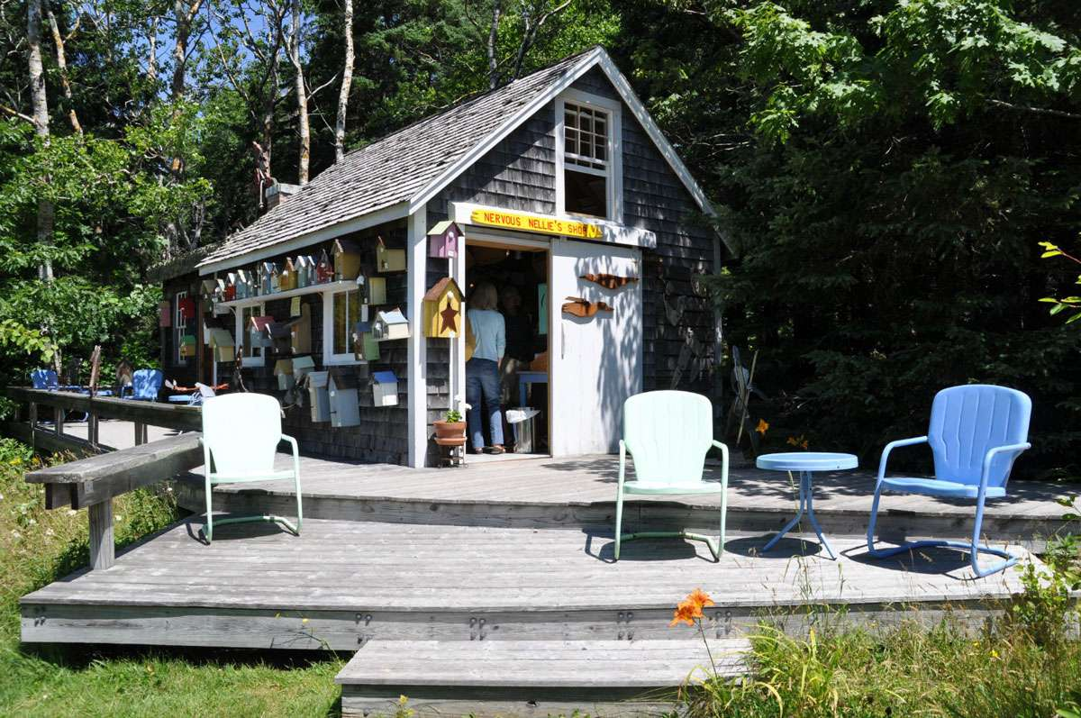 Visitors can take a break at Nervous Nellie's, a colorful shop and tea room with homemade goodies. Photo: Meg Pier