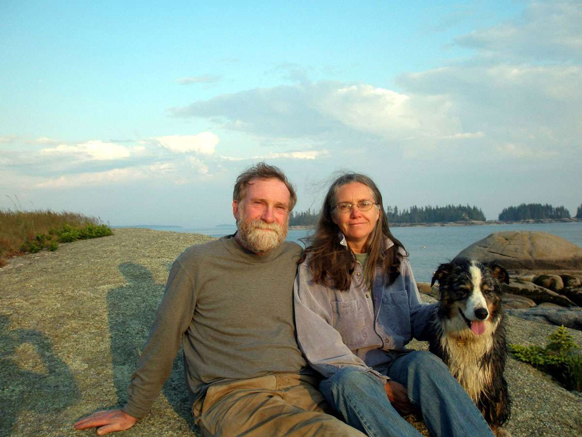 Peter & Anne enjoy a relaxing moment in the spectacular Deer Island landscape. Photo: Peter Beerits