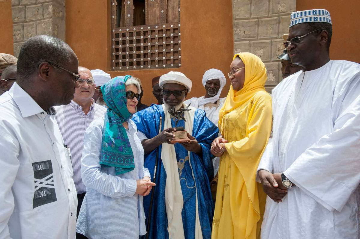 UNESCO Director-General Bokova in Timbuktu, Mali. Photo: UNESCO