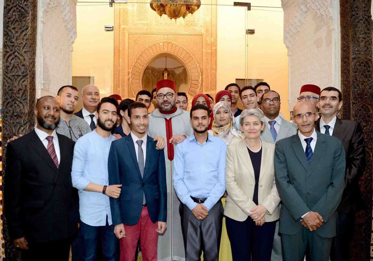 UNESCO Director-General Bokova in Fez with King of Morocco. Photo: UNESCO