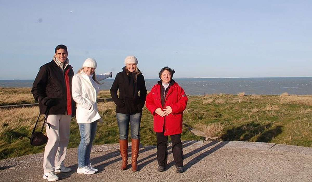 Annie Walgraef Provoyeur (far right) with a group of tourists. Photo: Alice Chaput
