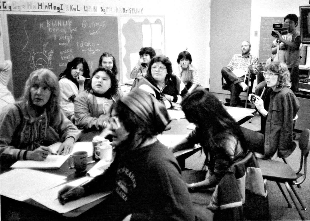 Eskimo language workshop. Photo: University of Alaska