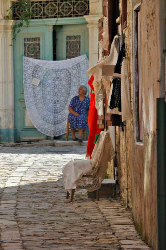 The Cypriot village of Lefkara is a living monument to a lace-making tradition that dates to the 15th century. Photo: Meg Pier