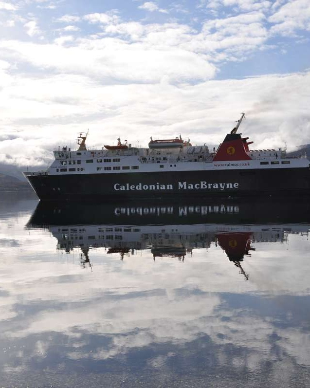 Cal Mac ferry in Loch Broom