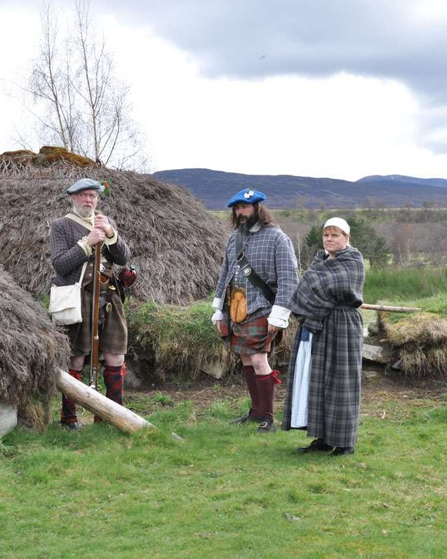 Period re-enacters at Highland Folk Museum