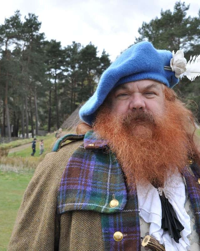 Historic re-enactor at Highland Folk Museum