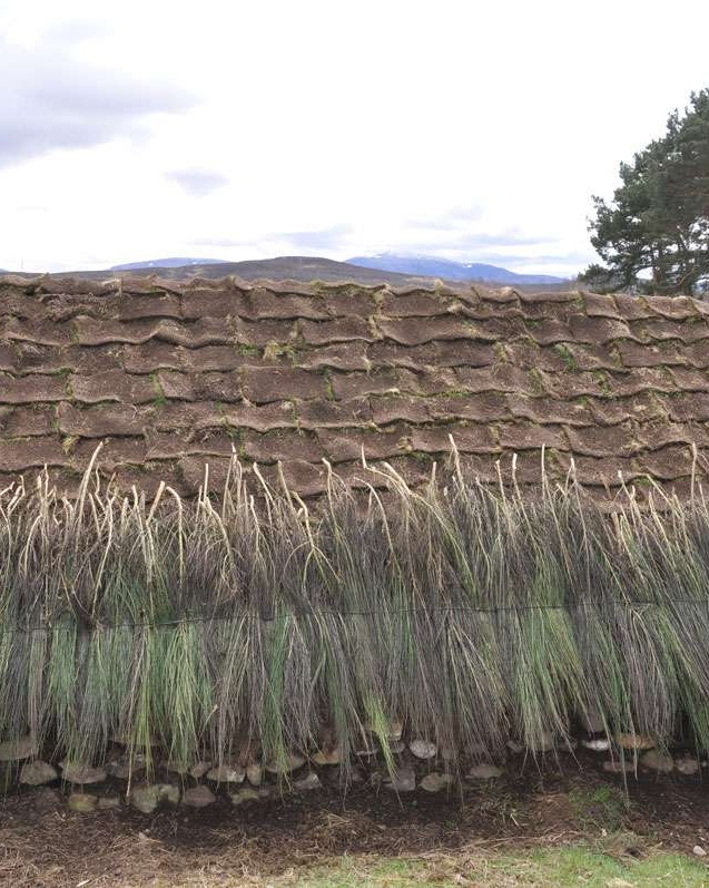 Thatched roof dwelling at Highland Folk Museum