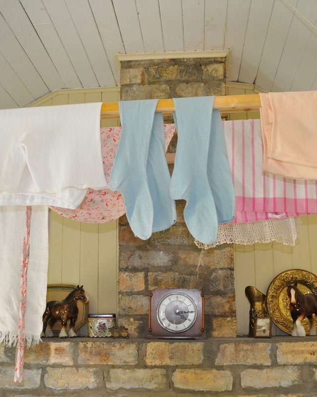 Clothesline at Highland Folk Museum