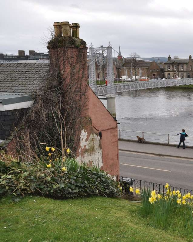 View of River Ness from Old High Church in Inverness