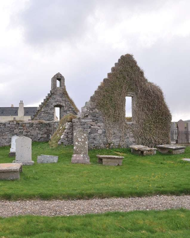 Scottish Highlands; Church in Balnakeil Bay