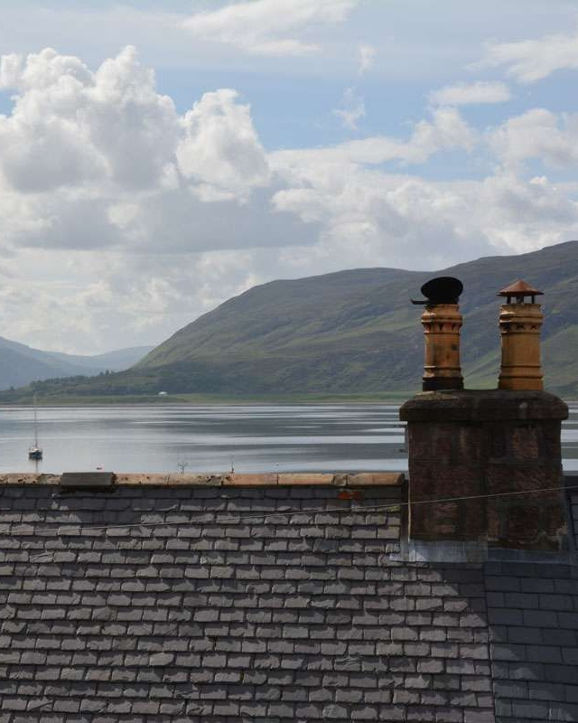 Loch Broom beyond the rooftop