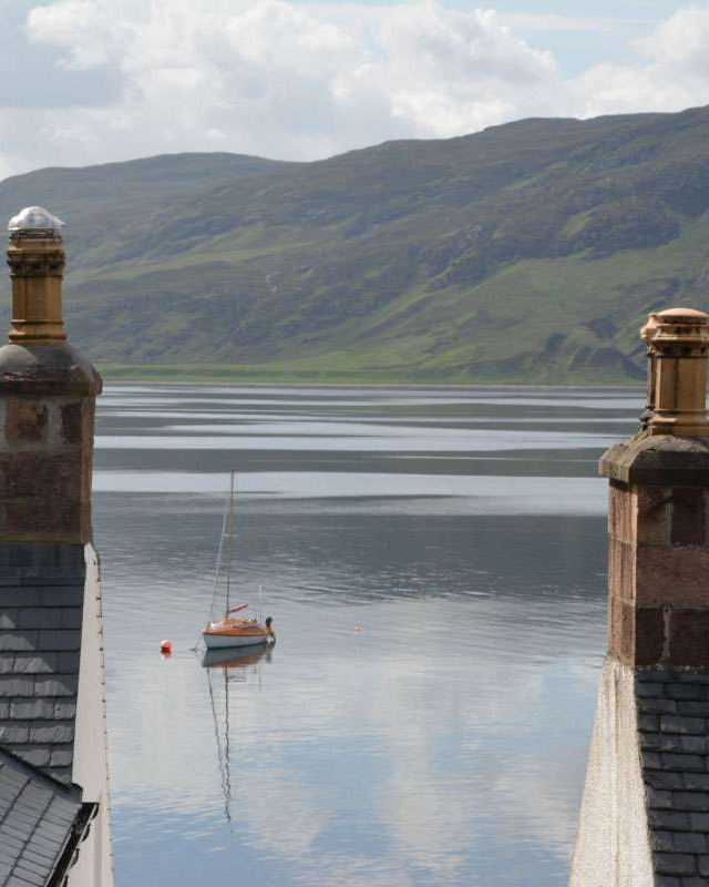 Loch Broom beyond the rooftops
