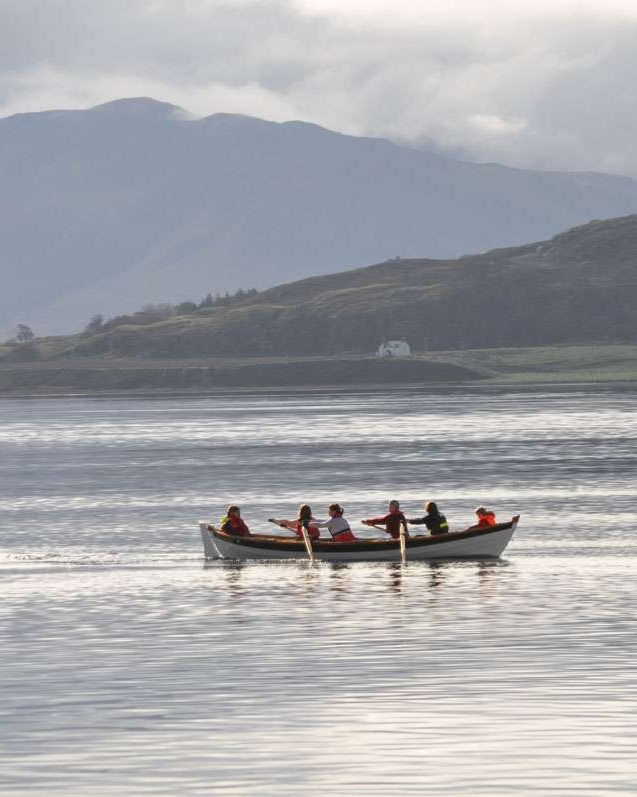 rowers on Loch Broom