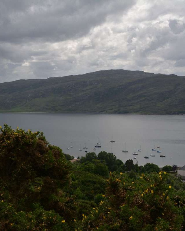 View of Loch Broom from above