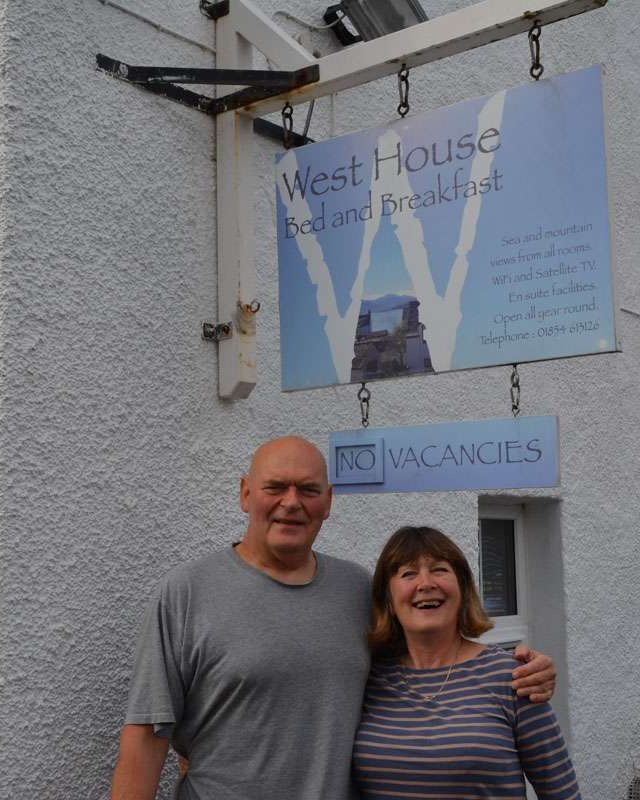 Owners of West House in Ullapool