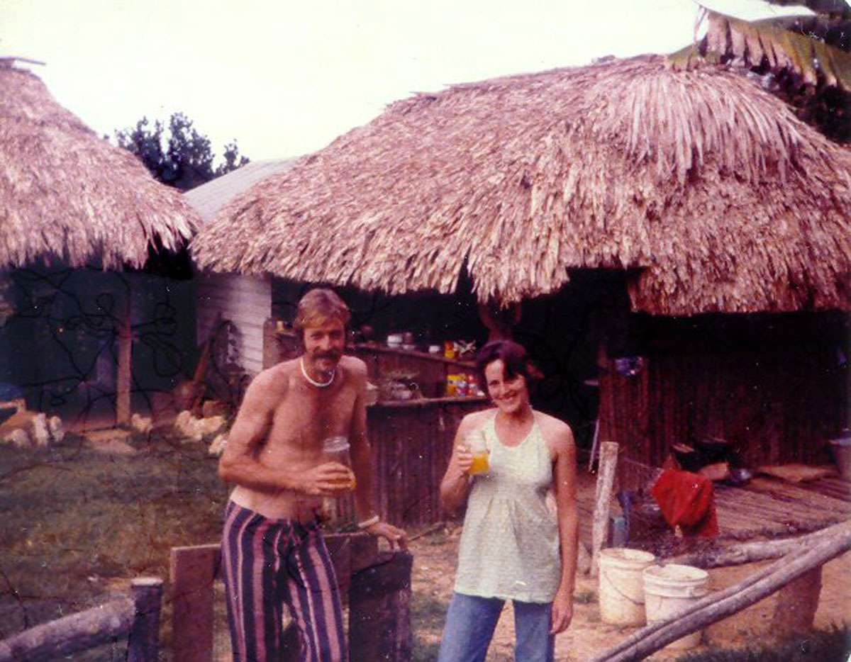 Mick & Lucy in the early days, taking a well-deserved break! Photo: Chaa Creek