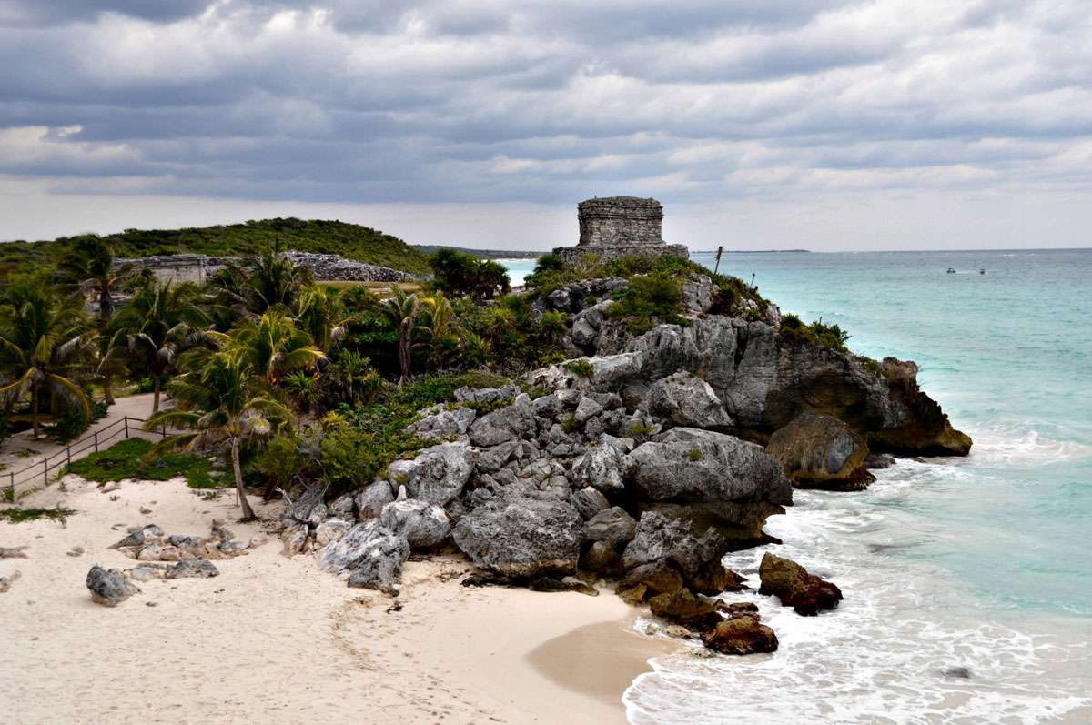 Tulum, the only Mayan ruin situated on a coastline. Photo: Meg Pier
