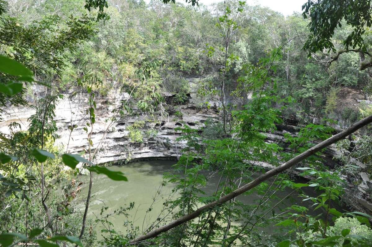 Mysterious waters of Chichen Itza's Cenote Sagrado. Photo: Meg Pier