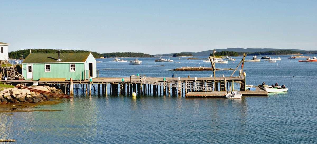 Deer Isle harbor, Maine. Photo: Meg Pier