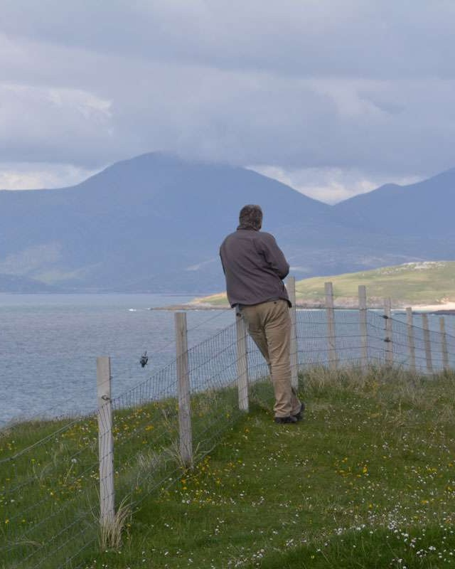 admiring the View on Harris Scotland