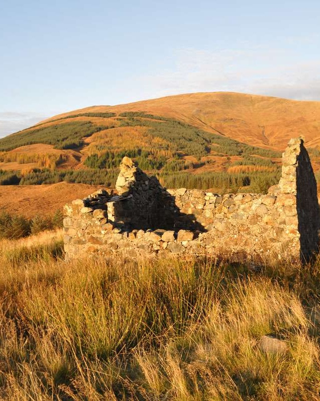 Ruin of croft on Isle of Mull