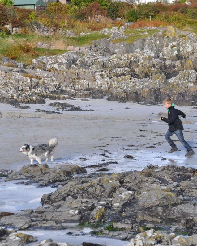 A run with the dog on Iona beach