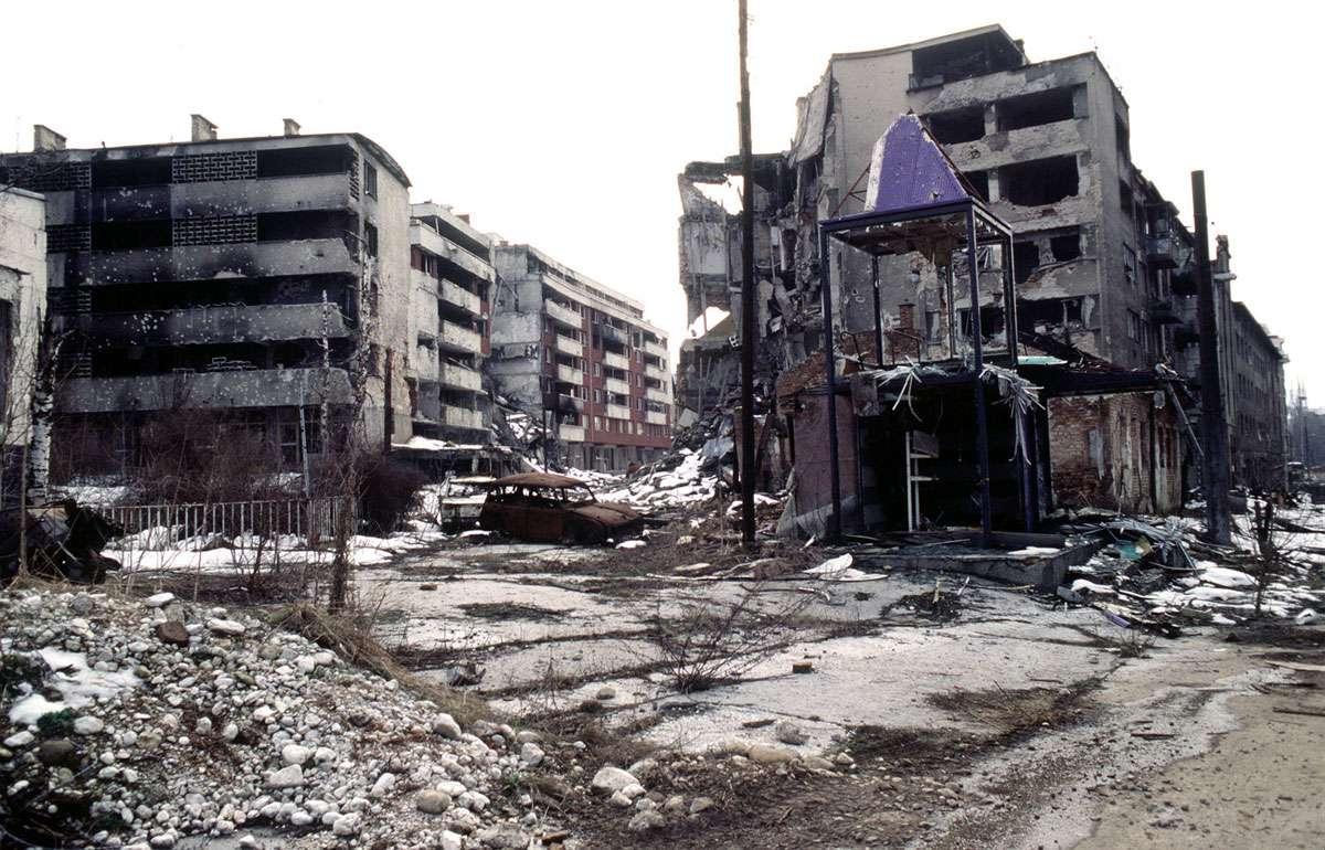 A devastated Sarajevo. Photo: Lt. Stacey Wyzkowski