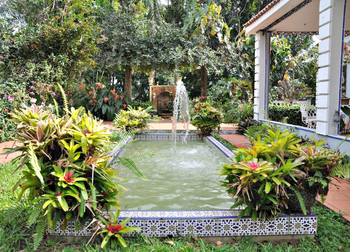 The fabulous gardens of santos collector Eduardo Rivera.   Photo Meg Pier