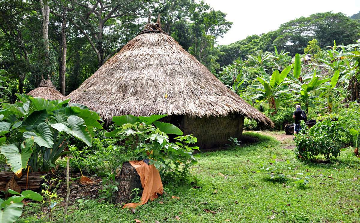 Kogi Ceremonial Huts - Tayrona National Park, Colombia. Photo: Meg Pier