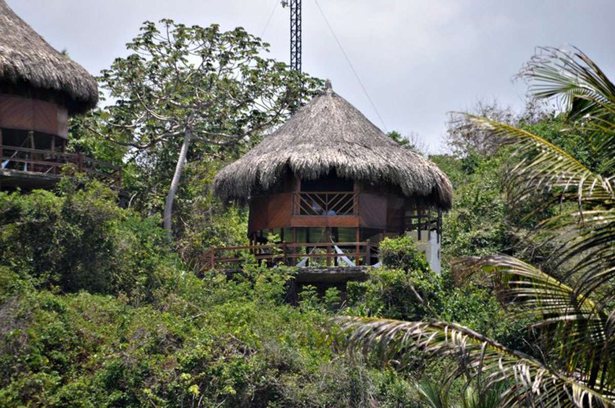 The Ecohabs bungalows are located above Cañaveral beach in Tayrona National Park. Photos: Meg Pier