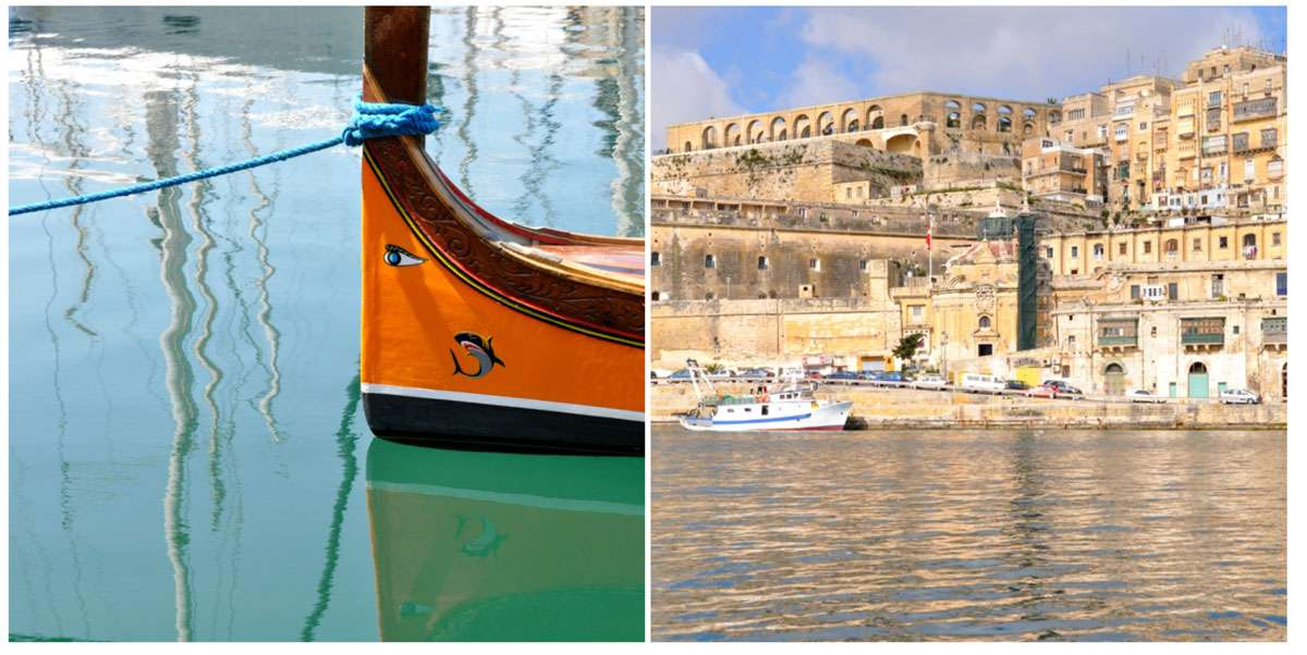 Touring Malta's Grand Harbor from a dghajsa makes for a relaxing way to appreciate the Middle Age architecture of the Knights of St. John