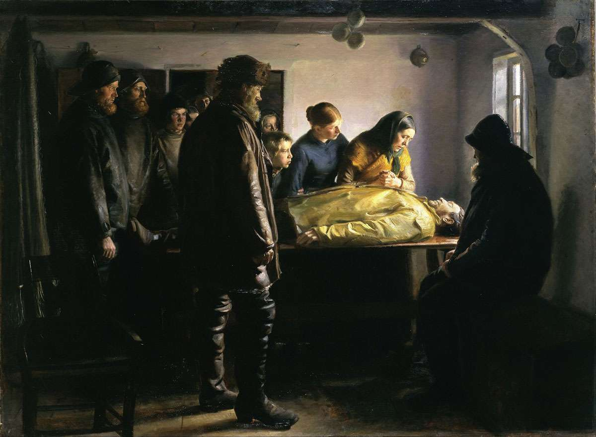 Michael Ancher's  The Drowned Fisherman  Photo: Statens Museum for Kunst