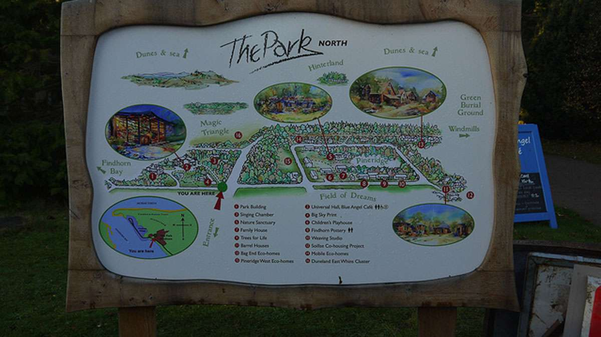 A map of The Park at Findhorn. Credit: Martyn Jenkins