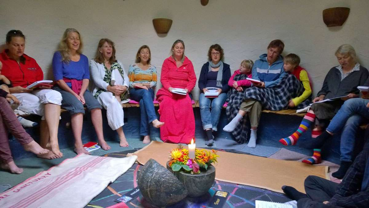 Taize singing in Findhorn's Nature Santuary, Photo: Graham Meltzer, Findhorn Blog