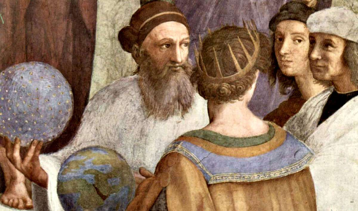 Zarathustra - detail from The School of Athens by Raphael. Photo: Wikimedia Commons