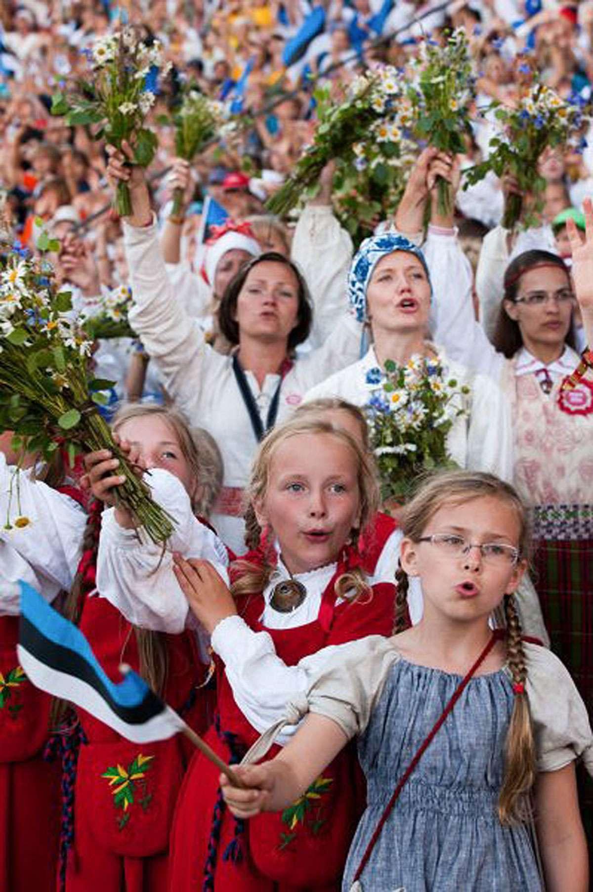 Participants in Estonia Song Festival. Credit: Estonian Song Festival Museum