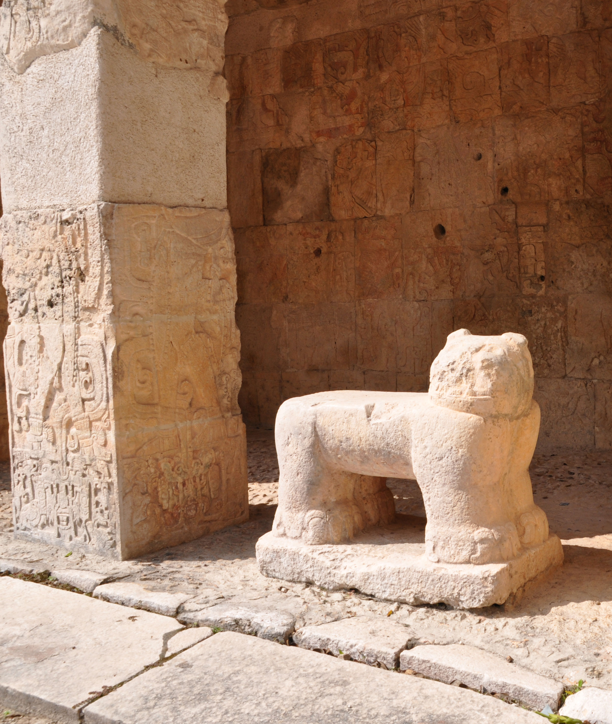 Details of massive Mayan site of Chichen Itza in Yucatan