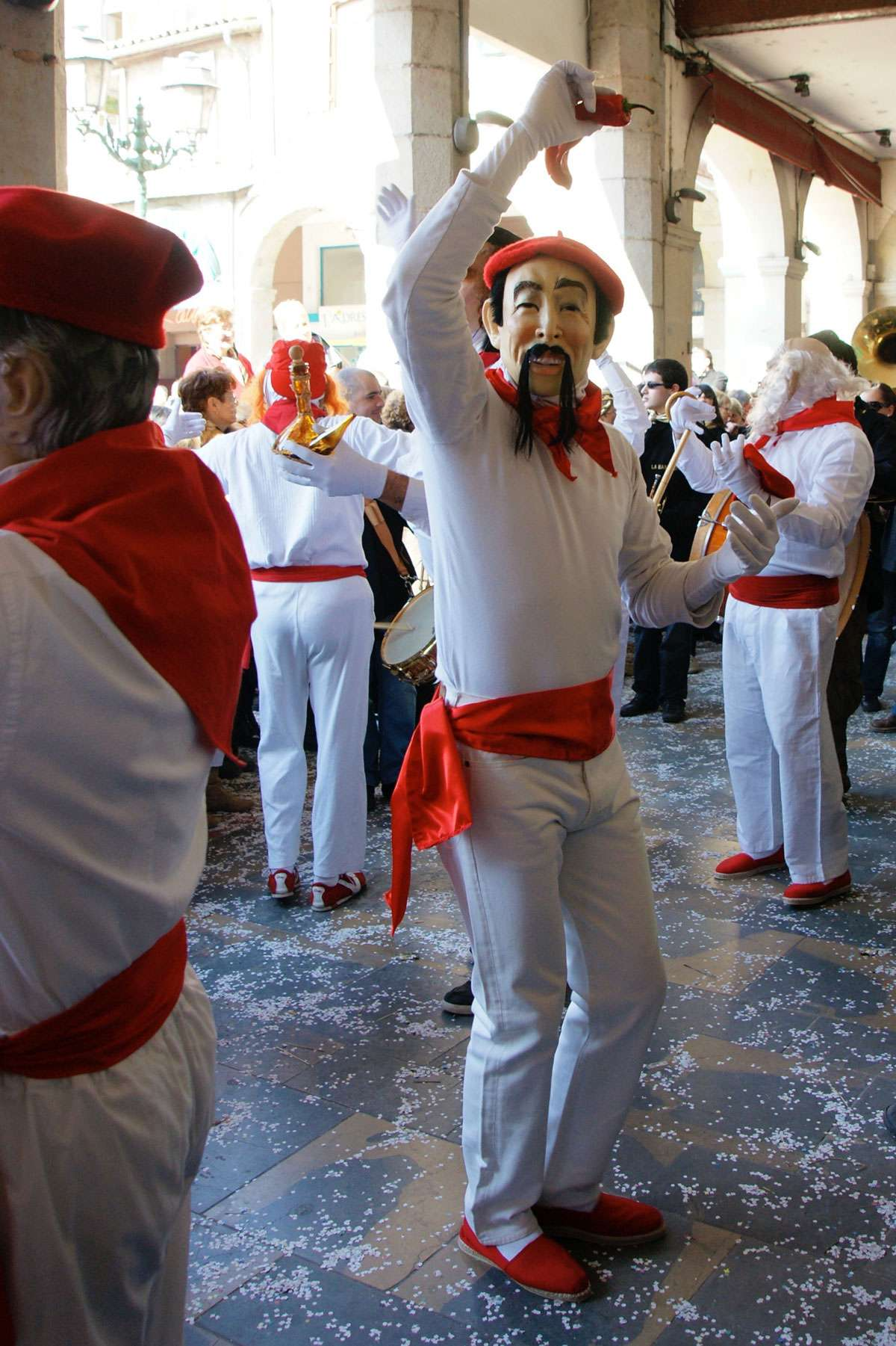 The millers parade in Limoux Carnival.  Photo: Luc Greliche