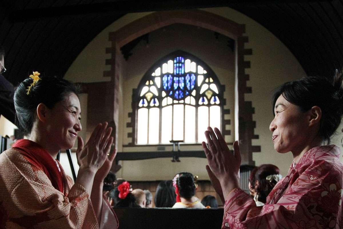'Kimono Mackintosh' event, Queen's Cross Church, Glasgow. Photo: Charles Rennie Mackintosh Society.