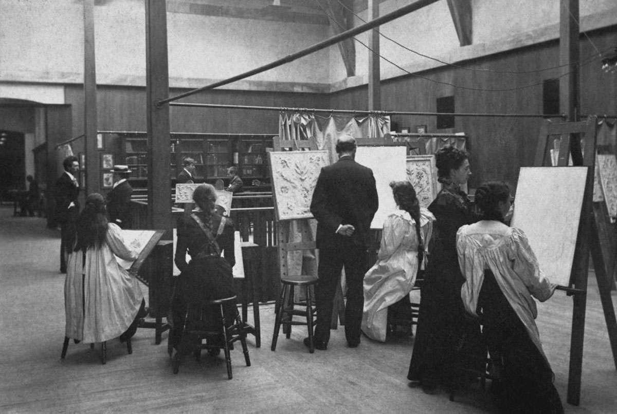 Drawing class, Glasgow School of Art, c1900. Photo: Peter Trowles