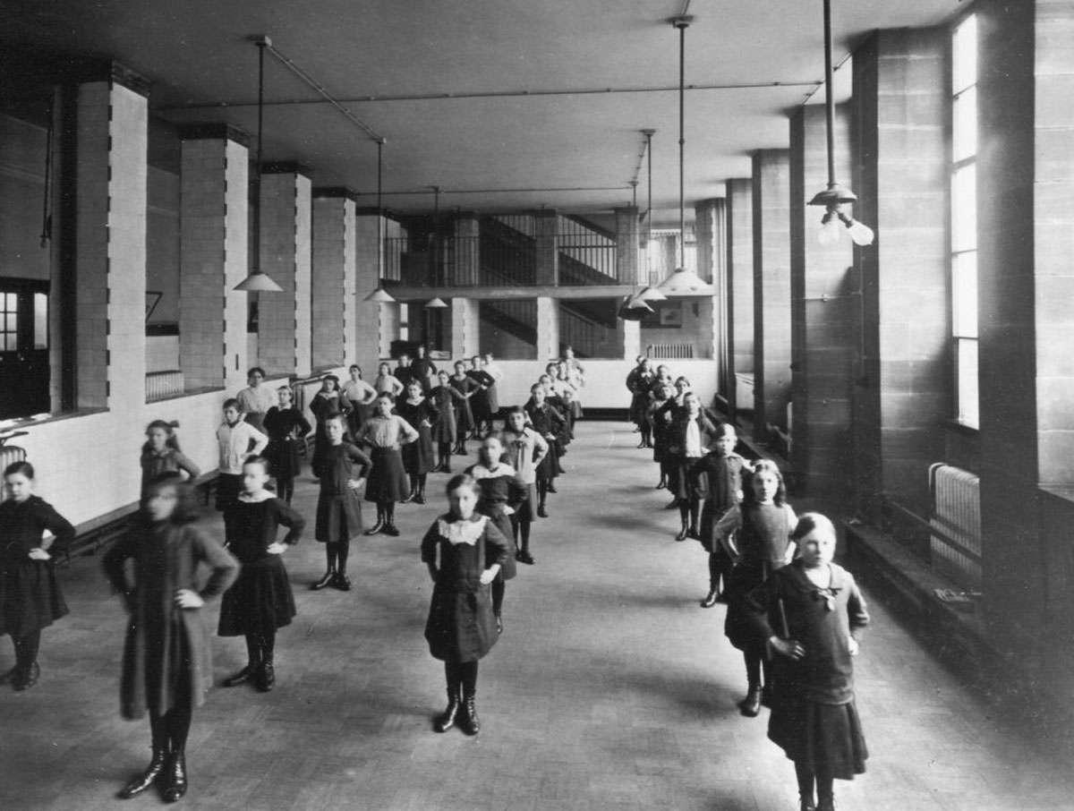 Exercise class, Scotland Street School, Glasgow
