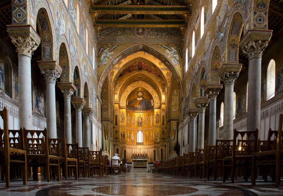 Interior of Monreale Cathedral. Photo: Wikimedia