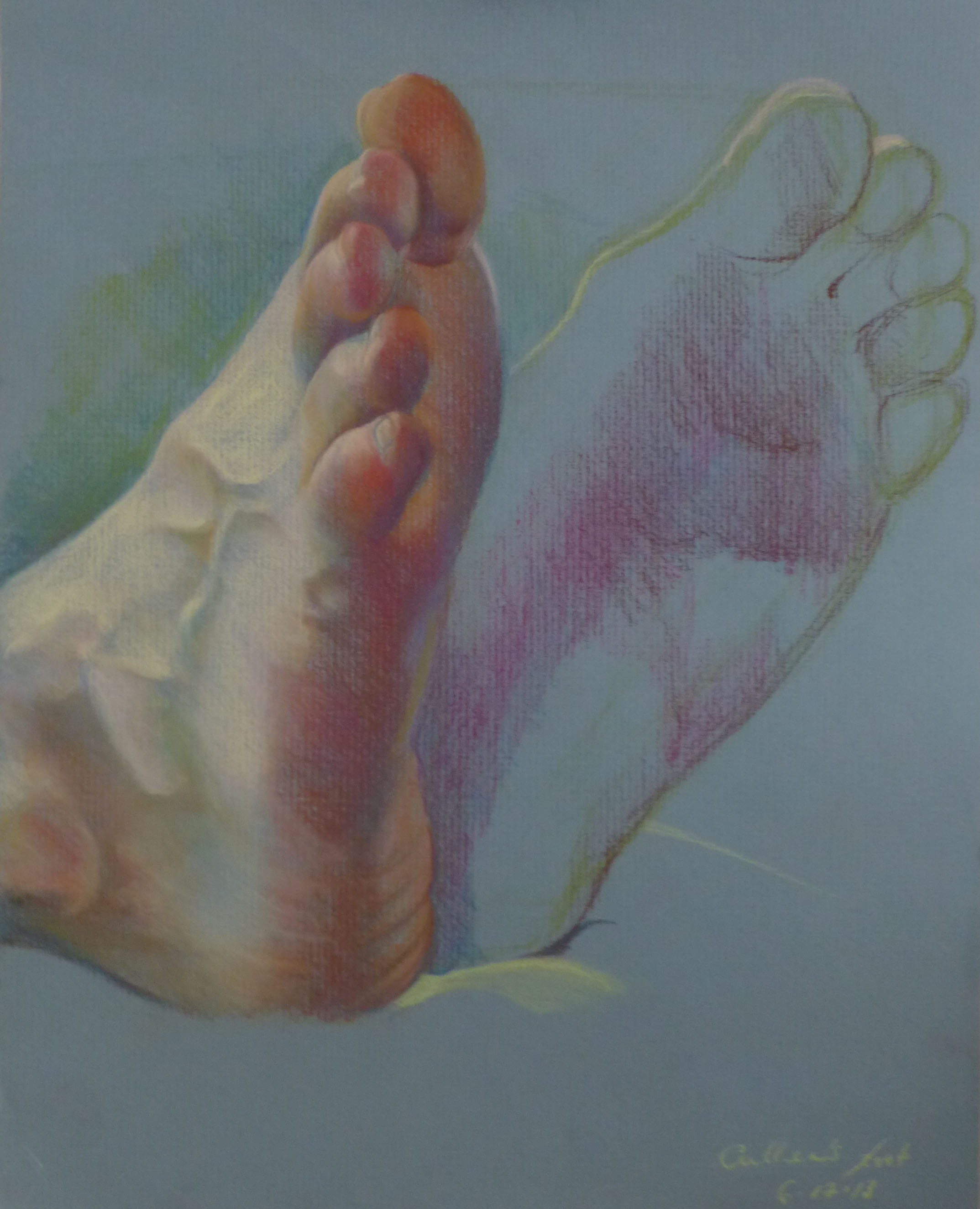 """Sketch, pastel on archival paper, 9 x 12"""""""
