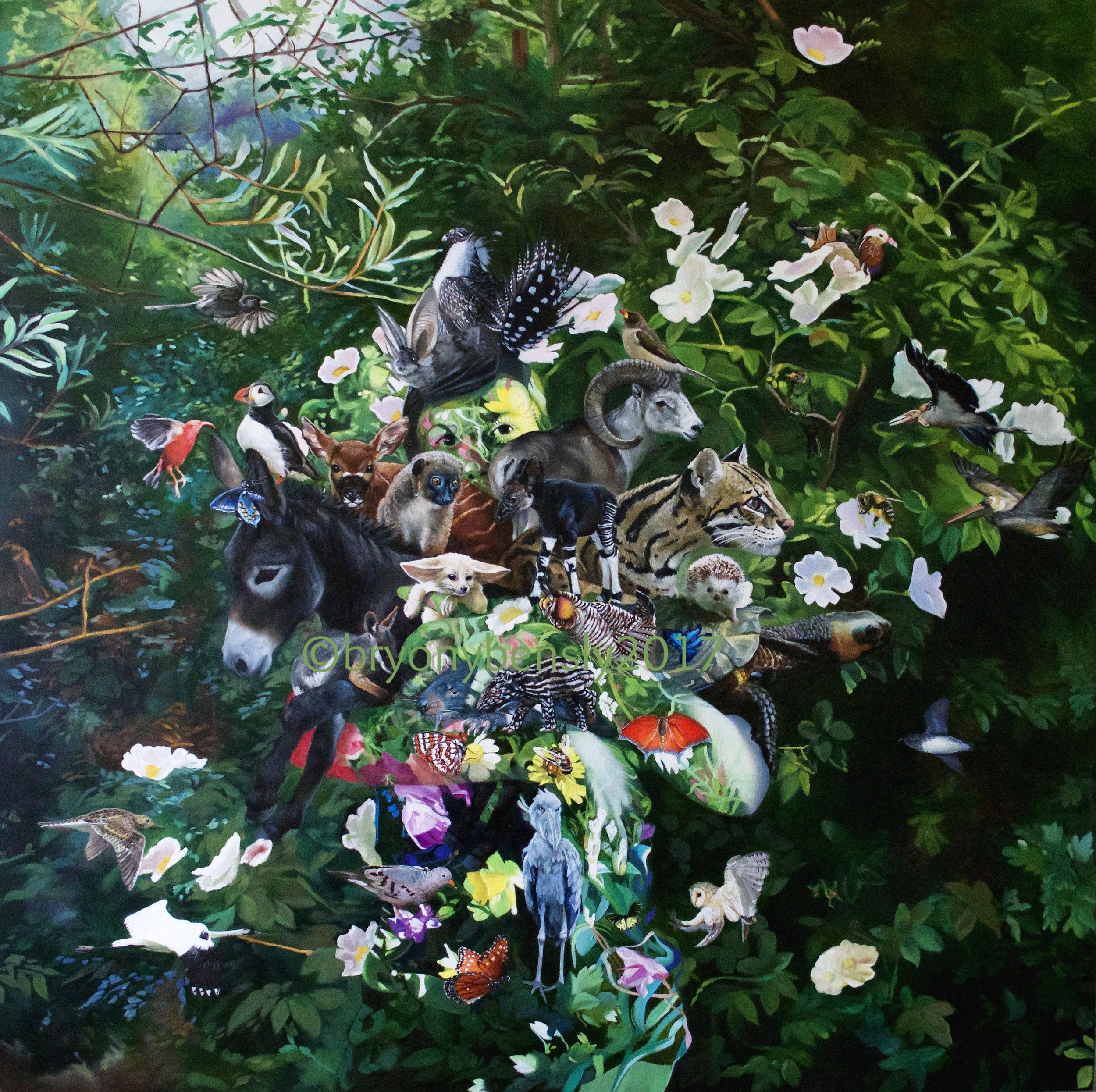 "Gaia, 48"" x 48"", oil on canvas"
