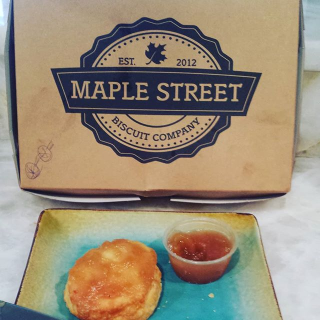 Thank you too Katelyn for the delicious Maple Street biscuits!
