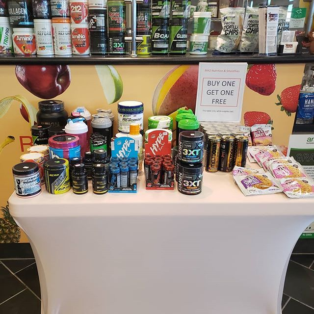 BOGO!!! All products on this table buy one get one while supplies last. Located inside LA Fitness Cattlemen & BeeRidge 941-260-5761.