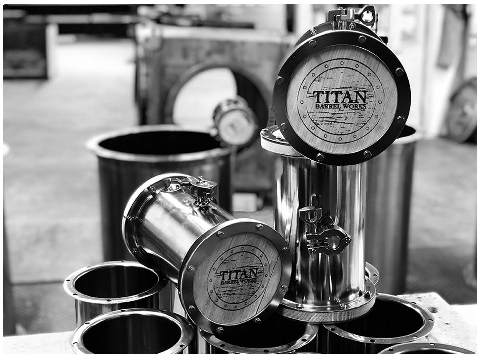 TITAN Wine Barrel for Any Size - With the choices of wide range of innovated customizable 750 ml small barrels to 59 US Gallons barrels will easily fit any size of your business need.