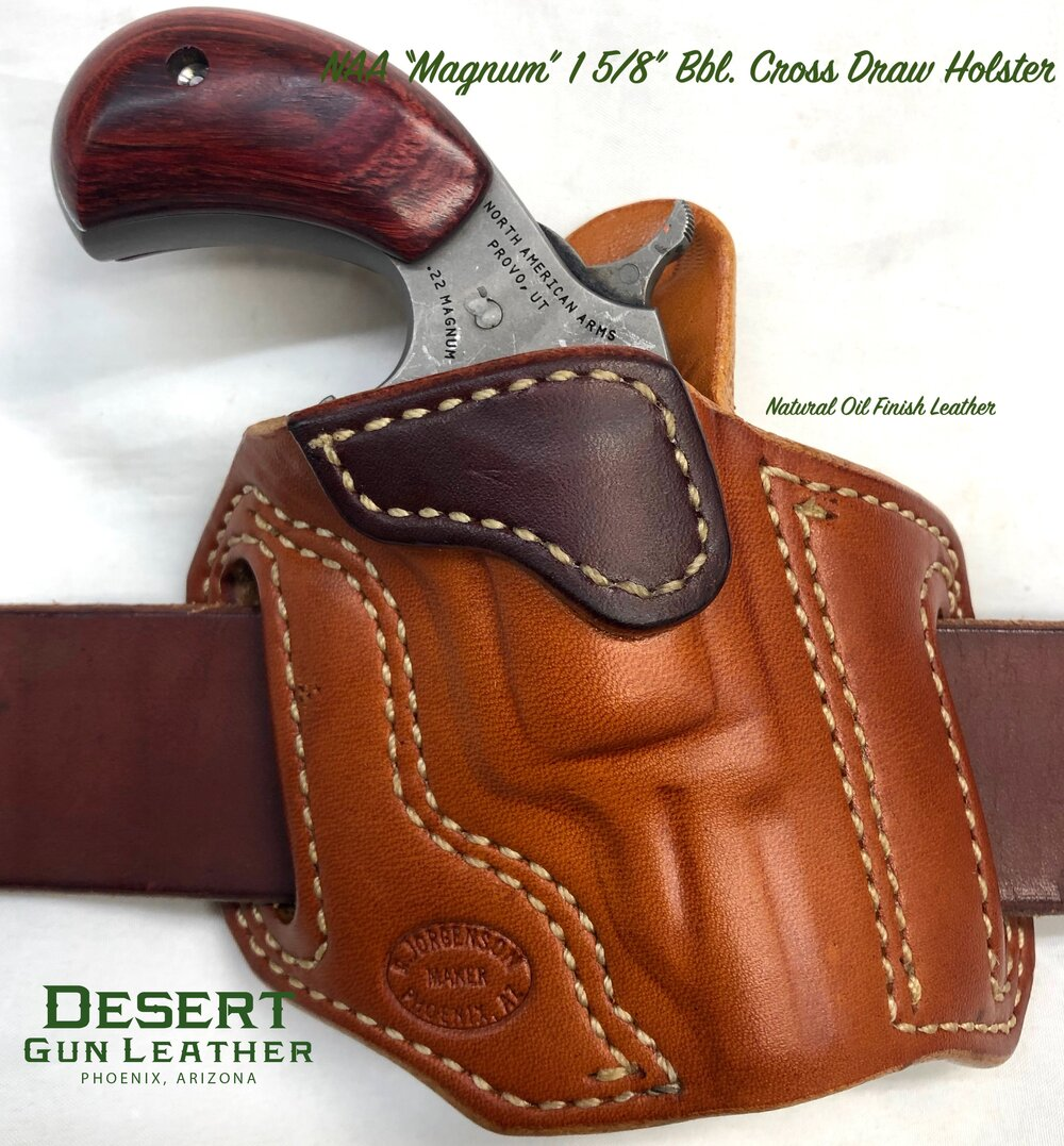 Leather Cross-Draw Holster for McCree Blaster