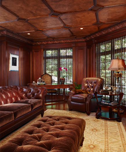 Library with copper ceiling